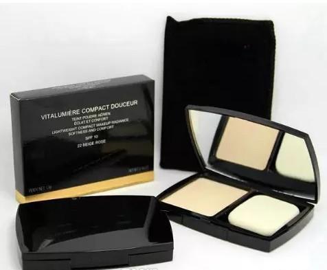 Nova Perfeição moda VITALUMIERE pressionado Pó compacto Marca Maquiagem Rosto 2 cores diferentes 13g SPF10 leves Cosmetics