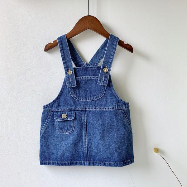 Autunm Winter Denim Girls Sundress Jeans Braces Dress Baby Girl Strap Dresses for Girls Suspenders Overalls Kids Jumpsuit