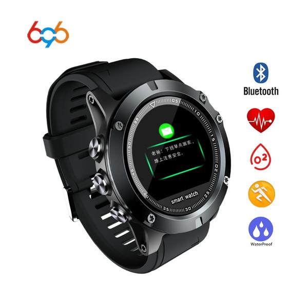 696 L11 Montre intelligente pour hommes, femmes Moniteur de fréquence cardiaque Caméra Tracker Fitness Santé Tensiomètre GPS SIM pour téléphone Android