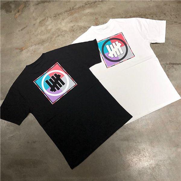 2019SS neuesten Farbabstimmung Plattenspieler Paar T-Shirt, die Marke eigene Retro Street Temperament Männer und Frauen T-Shirt