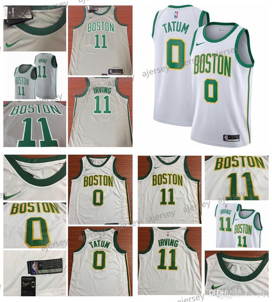 purchase cheap 83d9d c07fc 2019 Top Quality Jerseys 2018 19 City Edition Men Basketball Jersey Celtics  Jayson Tatum Kyrie Irving Gray White From Satasata, $22.34 | DHgate.Com