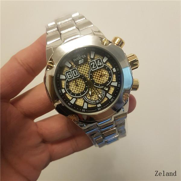 Big dial invicta Todos Subdials Trabalho Cronógrafo Relógio de Luxo Homens Assistir Top marca de Silicone fita de Quartzo Relógio de Pulso cfOR homens presente relojes 1B