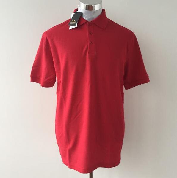 Dhl-freies heißes Mann-festes Polo 100% Baumwolle Hemd Camisa Heiße Sommerstickerei-Polo-Hemden-Mann-kurze Hülsen-beiläufige Hemden 10pcs / lot