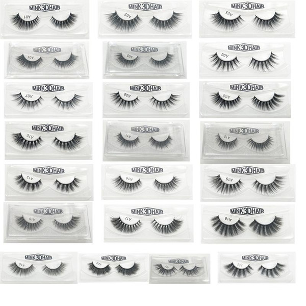 3D False Eyelashes 22 Styles Handmade Beauty Thick Long Soft Lashes Fake Eye Lashes Eyelash Gift Box Package Wholesale 3001217