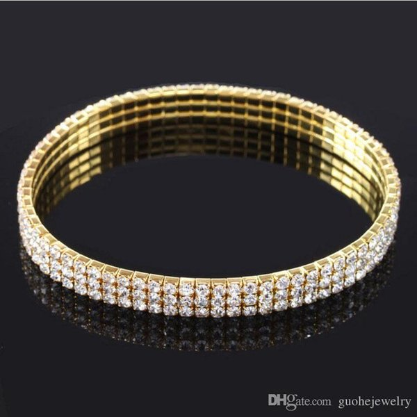 new fashion Hot sale Anklets for women Multilayer stretch rhinestone anklets classic roung anklets free shipping