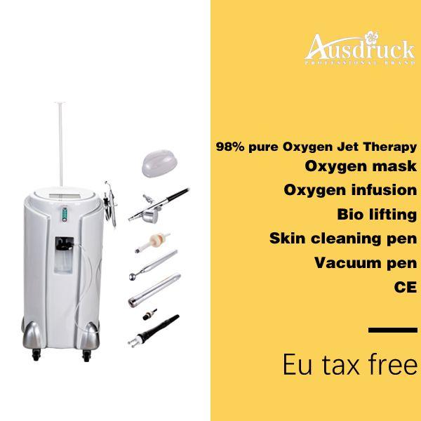 Máquina de exfoliación con chorro de oxígeno cuidado facial de la piel Cicatriz Eliminación del acné Inyección de oxígeno Spray BIO rejuvenecimiento de estiramiento facial SPA máquina de salón de belleza