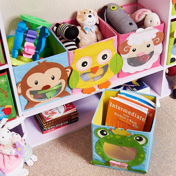 3d Cartoon Non-woven Kid Toys Storage Bins Animal Embroidery Foldable Clothes Storage Boxs For Underwear Organizer Rangement J190718
