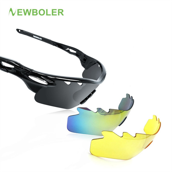d012785281 NEWBOLER Hombre / Mujer Gafas de Ciclismo Polarizadas Deportes al Aire  Libre Gafas de Sol MTB