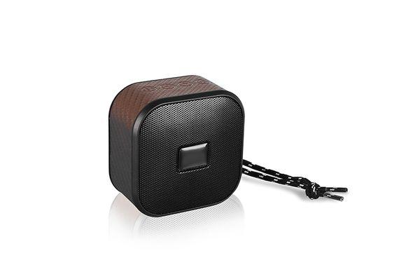 Portable Fashion Design with String Mini Bluetooth Wireless Leather Art Speaker Wireless Speaker With FM Radio