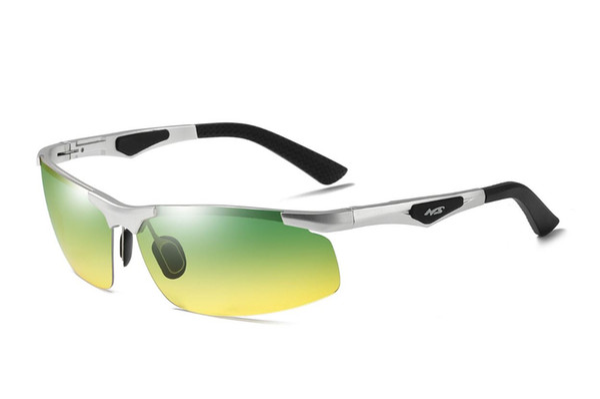 Fashion Day Night Vision Polarized Sunglasses Driving Glasses Eyewear UV400 Al-mg Ultra Light 3009