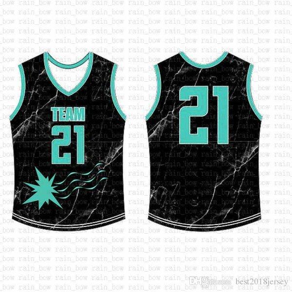 2019 Yeni Özel Basketbol Jersey Yüksek kaliteli ücretsiz gönderim Nakış Logolar% 100 Dikişli üst satış A1442558 Mens