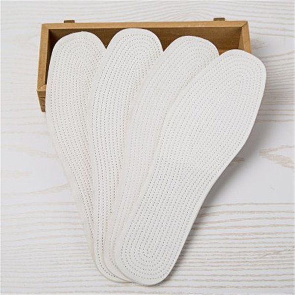 1 Pairs/ lot Disposable Comfortable wood pulp Shoes Insoles Inserts insoles for footwear Men Women White Color