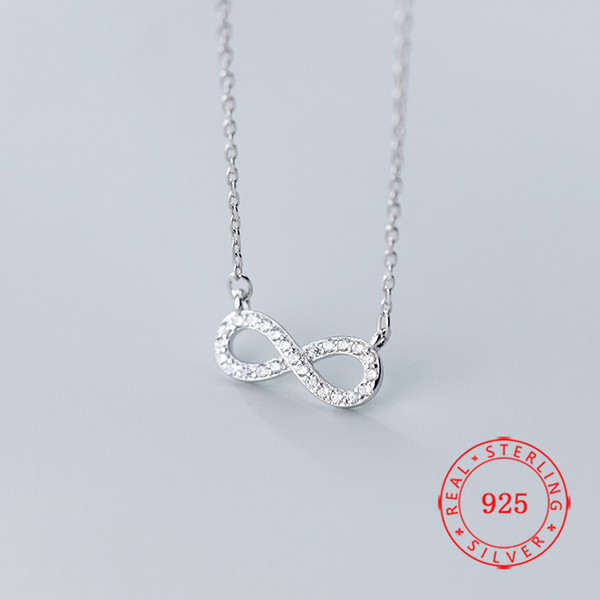 Fashion Infinity Chain Cross Pendant Consice Statement Necklace Jewelry Gift