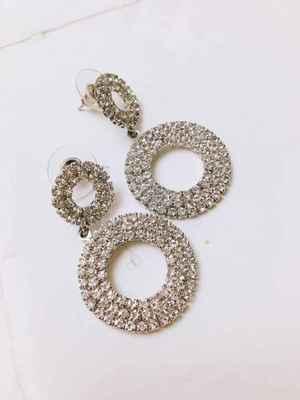 3eba59f89dd1f 2018 Flash Drill Circle Earrings Exaggerated Earrings In Europe And America  Korean Personality Baitao Long Temperament Earrings From Fosalinda, $15.08  ...