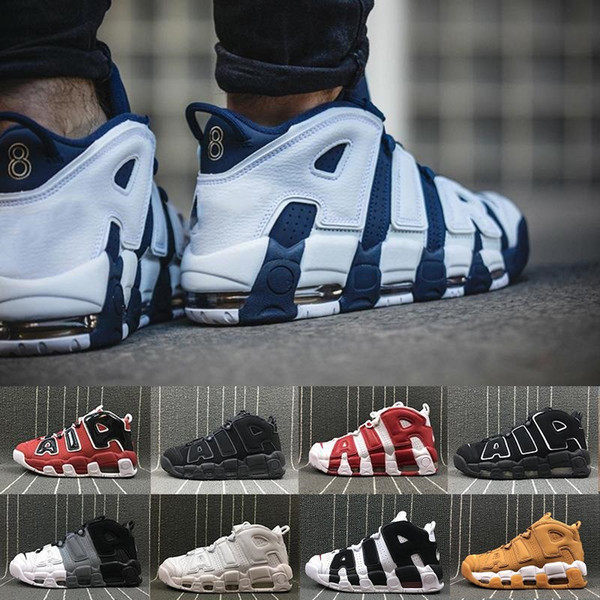 2019 New 96 QS Olympic Varsity Maroon plus Chaussures de basketball pour homme 3M Scottie Pippen air Uptempo Chicago Baskets Baskets de sport Taille 40-47