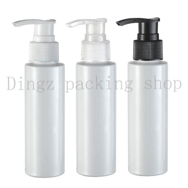 30pcs / lot 100ml bomba botellas blancas de tornillo, bomba de vacío de uñas polaco dispensador Botella Arte removedor UV GEL Cleaner
