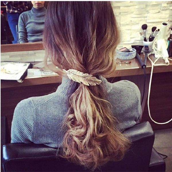 Grampos de Cabelo de Penas de folha Mulheres Meninas Acessórios Para o Cabelo Hairpin Barrette Cabelo Enfeite de Festa de Decoração Presentes de Jóias de Casamento DHL