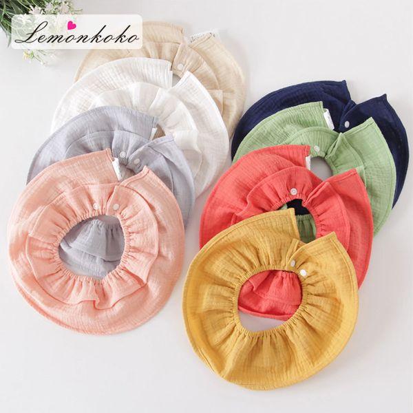 Bebek Erkek kız Önlükler Burp örtüleri Düz Renk Yuvarlak Bebek Bandana Önlükler Dribble Önlükler 8 Stil