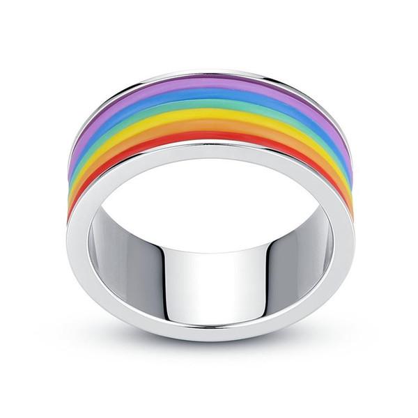 Niza Arco Iris Dedo Forma de Neumático de Silicona SS Skin Hoop Anillo de Banda de Goma de Silicona Para Mech Protección Vape Mod Vape Vaporizador RDA Tanques Decorar
