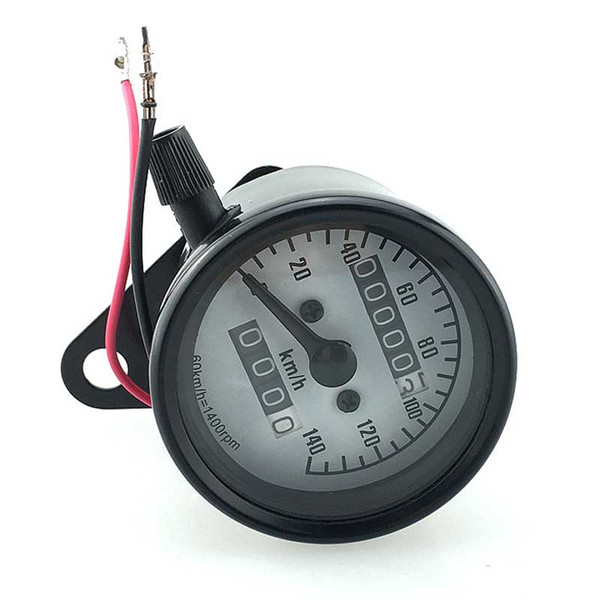 CAR Motorcycle Modified Double Odometer Metal Code Table With Retro All-metal Small Instrument With Night Lights
