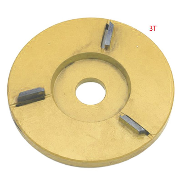 Golden 90mm Diameter Rotary Planer Plane Blade Power Wood Carving Disc Angle
