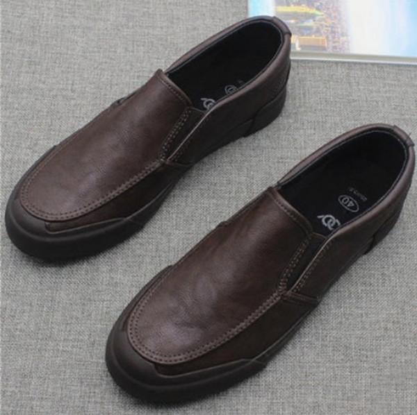 повседневная кожаная обувь мужчины мокасины на открытом воздухе мужская мокасины erkek spor ayakkabi zapatos hombre cuero genuino # y4