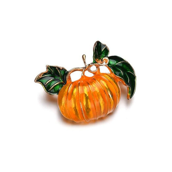 Simple Halloween Brooch for Pumpkin Women Men Pins 2019 Hot Sale Plant Imitation Brooch collar For Suit Scarves Sweater