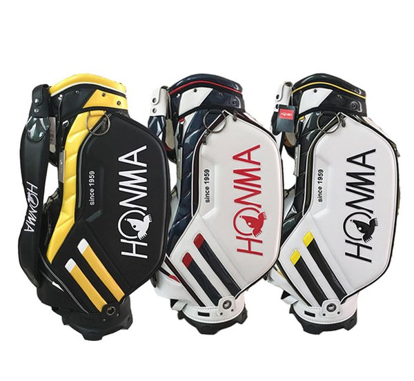 best selling Mens Golf Bags HONMA Golf Cart Bags High Quality PU Leather Golf Clubs Bag 3Colors