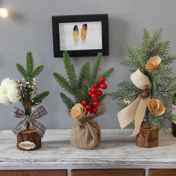 2018 New Weihnachtsbaum Künstliche Pflanze Weihnachten Getrocknete Rattan hängende Dekoration Dekorationen