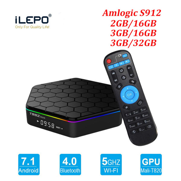 best selling S912 TV Box T95Z Plus Lan 2.4+5.8g Wifi Android 7.1 4k Ultra Smart TV Streaming Boxes T95Z Television Media Player