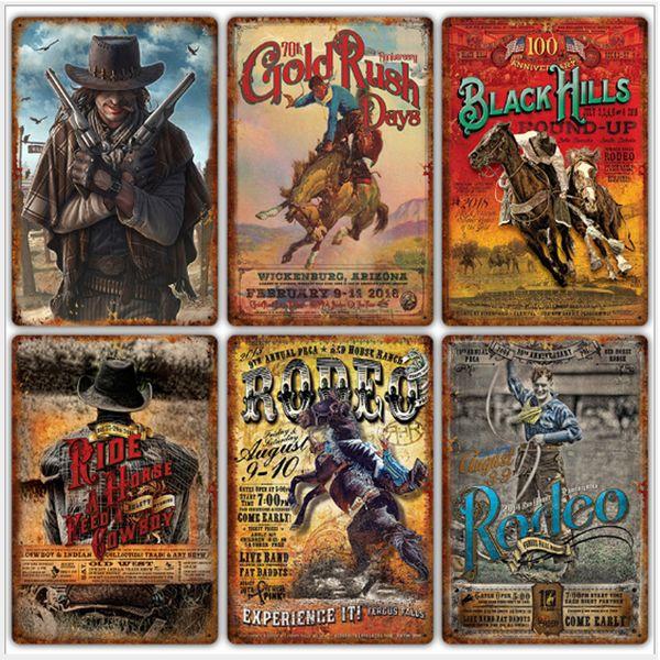 37 Styles Horse & Riding Vintage Home Decor Tin Sign Bar Pub Decorative Metal Sign Retro Metal Plate Painting Metal Plaque 20*30cm
