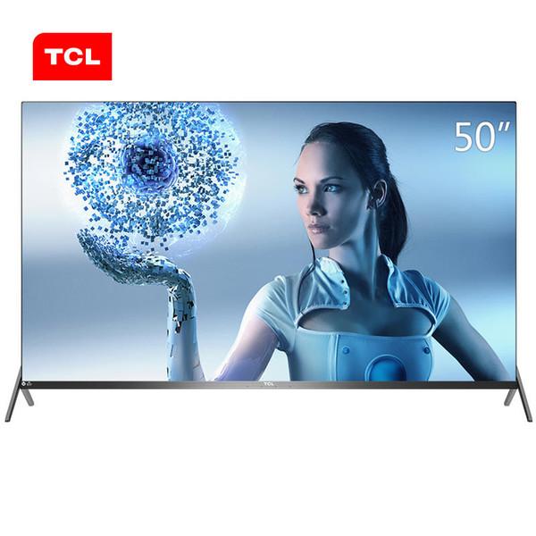 TCL 50 pouces contrôle à distance libre super AI Intelligence artificielle 4K TV ultra LCD écran full hd produits chauds nouvelle livraison gratuite.