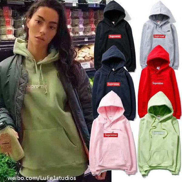 Großhandel Neue Männer Frauen Lange Ärmel Rosa Fleece Stickerei Box Logos Hoodies Sweatshirts Jugend Liebhaber Casual Pullover Wineter Für