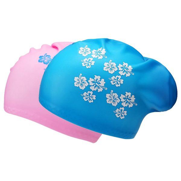 2019 Swimming cap female adult ladies waterproof swimming cap Female ear silicone Korean fashion equipment 3 color
