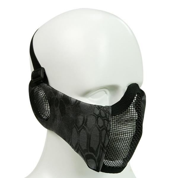 Kulak Koruma Net Mesh Naylon Yarım Maske Açık Nefes Çelik Tel Sürme Maske Bisiklet Bisiklet Yürüyüş Yüz Maskeleri Erkek Kadın