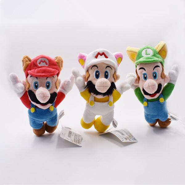 8 pollici alato Super Mario peluche ripiene Giochi di giocattoli Ruolo Bambole che volano Luigi Giocattoli Regali Bambini A prova d'umidità 17hf O1
