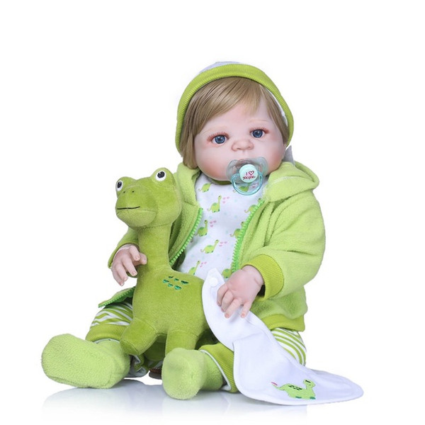 Bebe Reborn 22Inch Soft Fully Body Silicone Reborn Dolls Newborn Babies Reborn Realista Doll For Gift Bath Toys Gifts Birthday