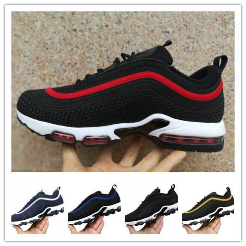 ed3e38584cf236 Black Red Tn Chuassures Homme 97 Tns Designer Sneakers Kpu Material Men Running  Shoes Outdoor Walking Scarpe Plus Tn Size Eur40-46