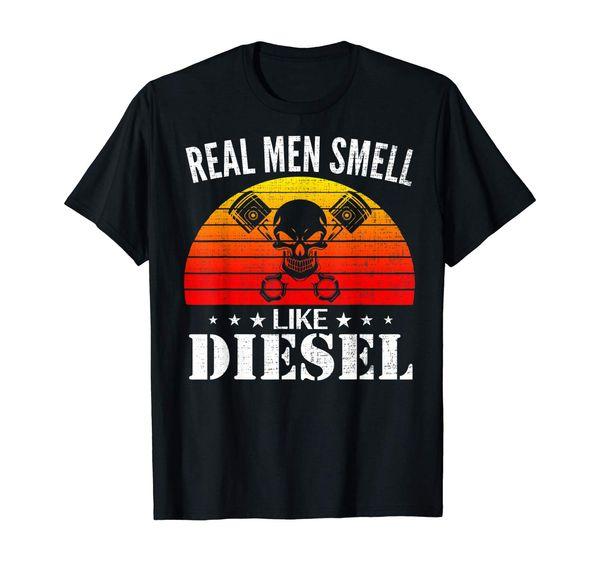Retro real de los hombres huelen como divertido fresco Mecánico regalo de la camiseta