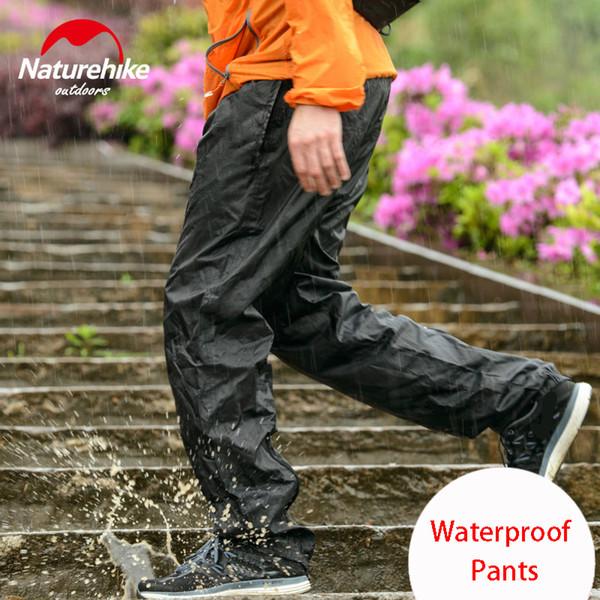 Naturehike Açık yürüyüş pantolon yağmur pantolon erkek kadın yürüyüş dağcılık seyahat bisiklet sürme yağmur su geçirmez pantolon