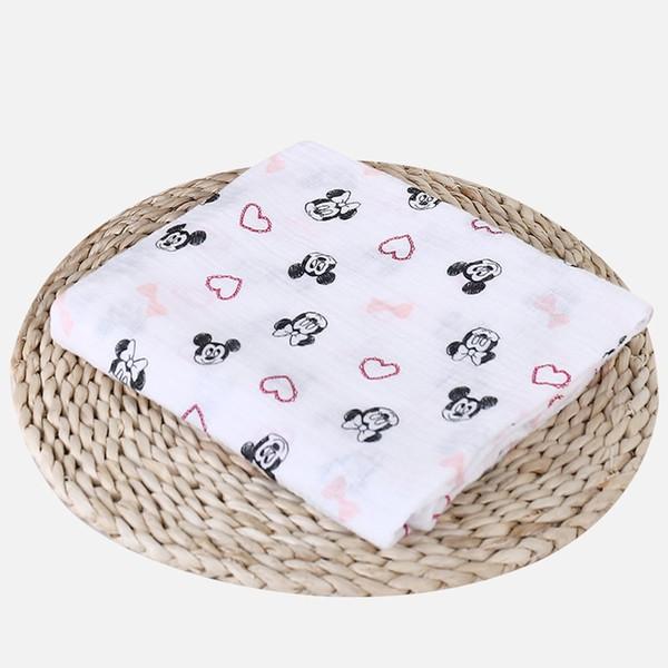 100% Muselina Mantas de algodón Dibujos animados Patrones de unicornio Múltiples usos Recién nacido Swaddle Muselina Infantil Gasa Ambos Toalla Bebé Warp