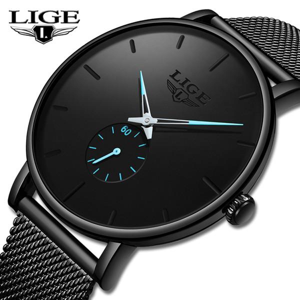 Lige 2019 New Fashion Sports Mens Watches Top Brand Luxury Waterproof Simple Ultra-thin Watch Men Quartz Clock Relogio Masculino Y19051403