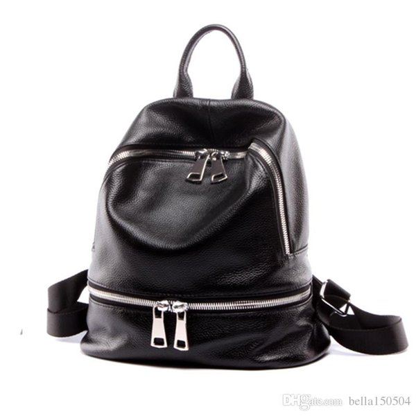 GUTE QUALITÄT Marke im europäischen Stil Rucksack Luxus Echtes Leder Designer Multi-Pocket-Paket Unisex Rucksäcke Handtaschen beliebte Reisetasche