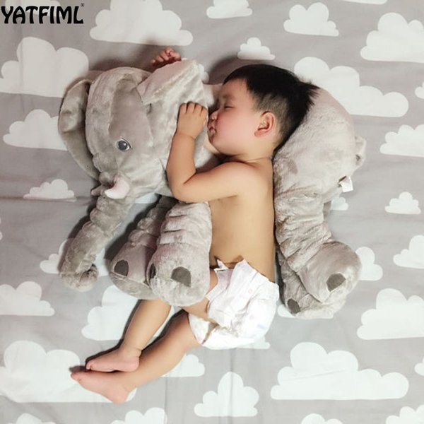 ELEPHANT PILLOW 60CM HEIGHT PLUSH TOY KIDS SLEEPING BACK SOFT CUSHION STUFFED PP COTTON CHILDREN'S GIFTS SH190917