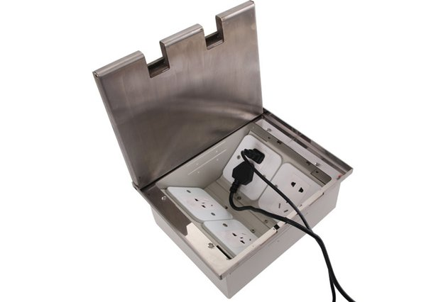 Floor power sockets exhibition power floor socket box HGD-300K with Q235 Decorative pattern steel lid