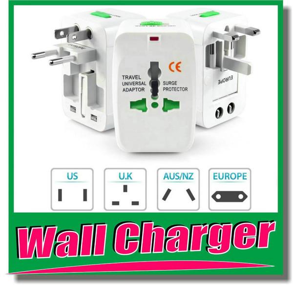 Adaptador de corriente alterna de cargador de pared universal de viaje para protector de sobretensión Internacional AU Reino Unido EE. UU. UE Enchufes todo en uno OM-I4