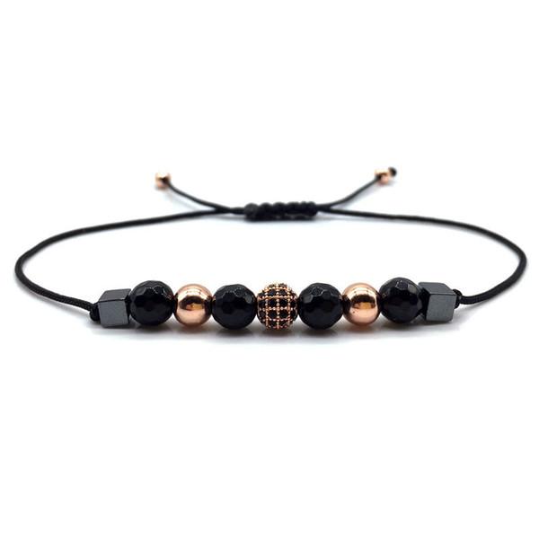 Neue ankunft Männer Frauen Mode Einfache charme Armband Stein Perle Strang Handgemachte Diy Armbänder Männer Frauen Zubehör Schmuck Geschenk