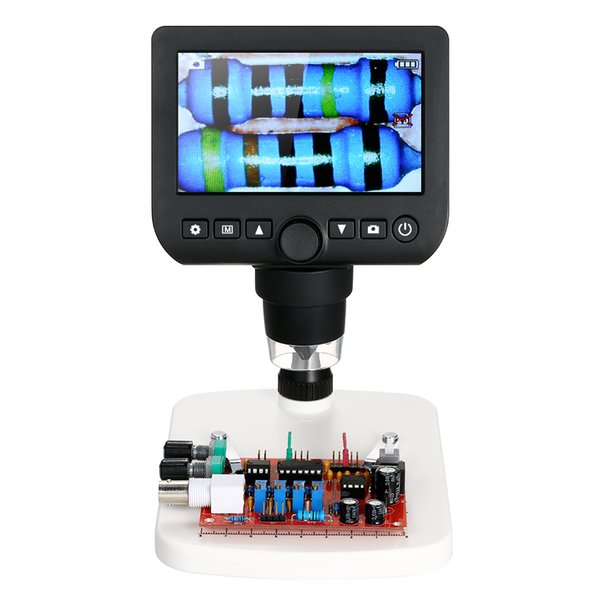 """Digital Microscope 4.3"""" LCD 800X Electronic microscopio TV Output 3.0MP usb microscope camera Magnifier with Light and Stand"""