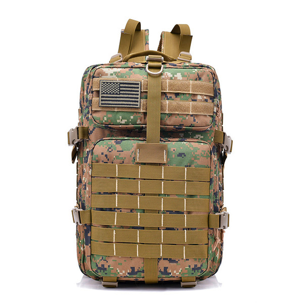 FK9252 40L 900D Military Outdoor Tactical Backpack with Hook-and-loop Fastener Jungle Digital