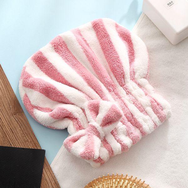 Dry Hair Cap Shower Caps Bowknot Turban Female Cute Quick-drying Absorbent Wipe Towel Dry Hair Wipe Headband Quick-drying Cap